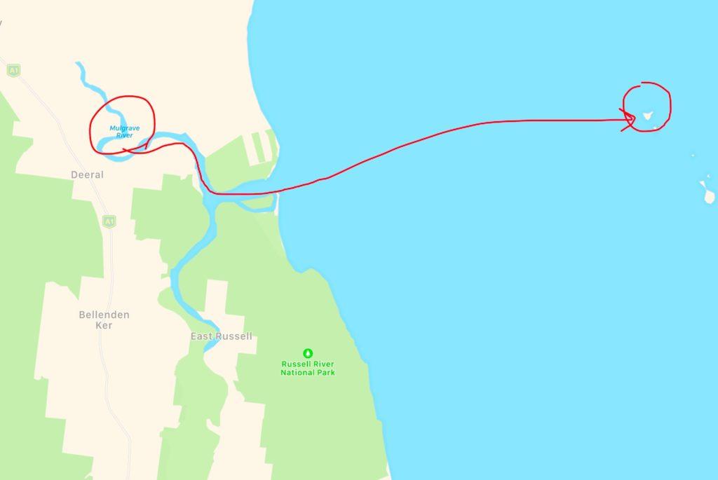 【MAP2 ノーマンビー島付近の位置関係】